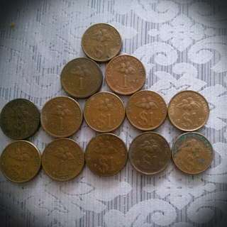Old Coins Malaysia 1 Ringgit