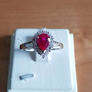 Red Sapphire (Synthetic) Ring
