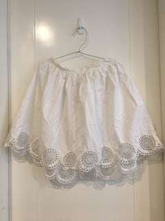 Raoul White lace skirt