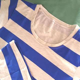 Blue and White Striped Shirts