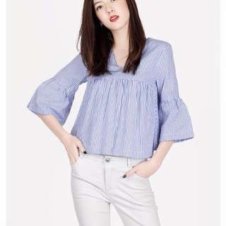 AFA Rockabye Blue Stripes Top M