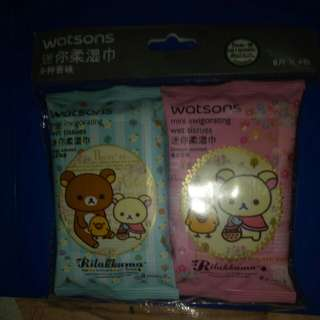 Rilakkuma wet wipes