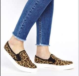Leopard Plimsolls