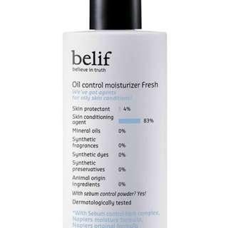 Oil control moisturiser fresh