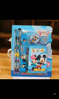 Instock Stationery set brand new clear Stock Sales !! Frozen/Mickey/mc Queen/hello kitty