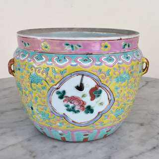 "*Price Adjusted* A Large Famille Rose ""Kamcheng"" Jar (Peranakan)"