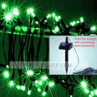 BEIYI® FL0943 Professional 200 LED Waterproof Decorative Solar Fairy Lights GREEN larger solar cell panel more efficiency water proof IP65--Garden Outdoor Lights