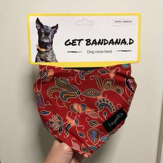 Red bandana for pet