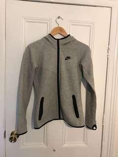Grey Nike zip up sz small