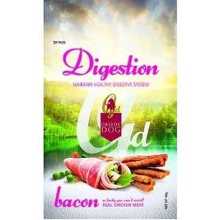 Greedy Dog Digestion Bacon 80g