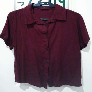 Red Crop Top Polo