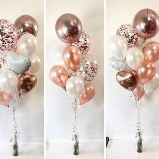 BalloonsHero balloon bouquet with champagne/wine (FREE DELIVERY*)