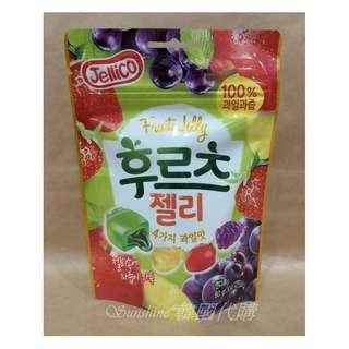 🚚 現貨 韓國 Jellico 100% 綜合果汁 軟糖 80g