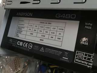Andyson 480w power supply