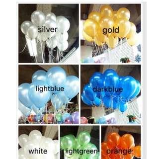 metallic balloons 1pack/100 pcs