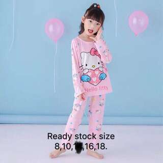 Hello Kitty Longsleeves Pyjamas (4y to 15y)