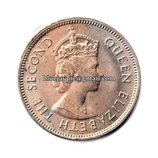 Malaya & British Borneo 1961 20 Cents Coin--00095