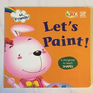 $2 Let's Paint book rabbit kid toddler