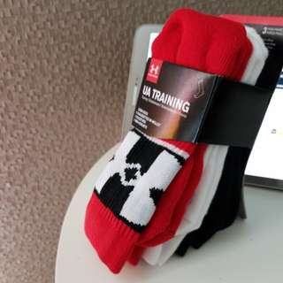 Under Armour Boy's UA Training 3-pack Phenom Crew Socks運動祙