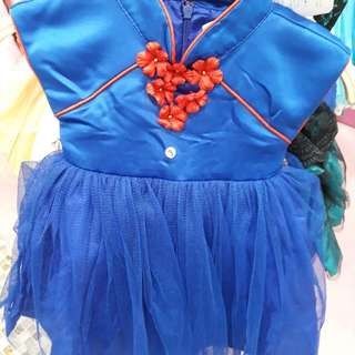 Dress bayi warna biru