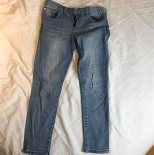 Blue Ankle Jeans