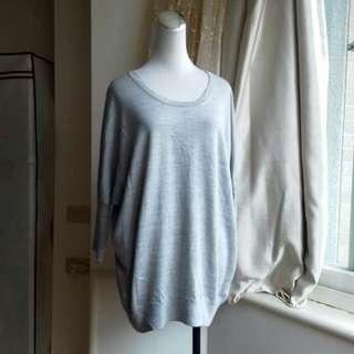 無印良品 羊毛混絲寬鬆連袖針織衫