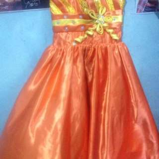 For rent /sale orange gown