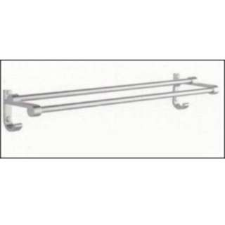 ZX206305 Alloy Double Towel Bar with 2 Hooks