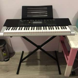 Casio Electric piano keyboard with stand - CTK-4400
