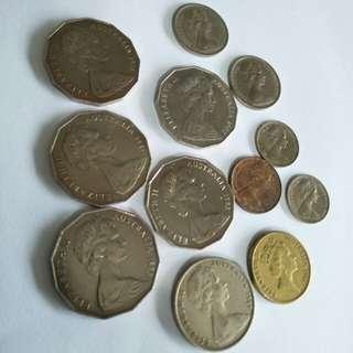 Australia old coin 12pcs sale $8