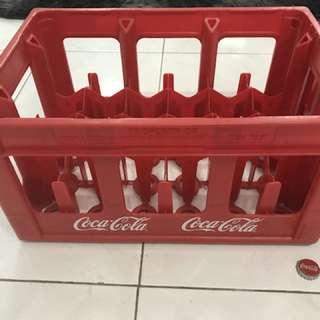 [ORIGINAL] Vintage Coca-Cola Red Plastic Crates