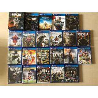 PS4 Playstation 4 Games Clearance