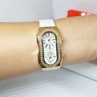 REPRICED Valentino white leather watch