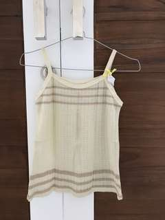 Cream Knit Tank Top