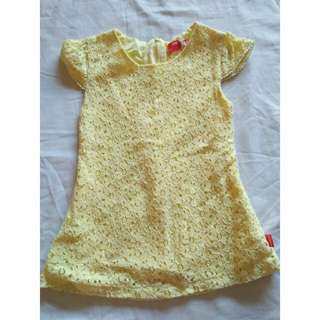 Yellow dress for baby girl