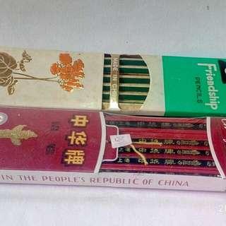 中華牌,友愛牌鉛筆共兩排中國製造