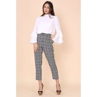 RTP $33.90 BNIP Supergurl Hillary Houndstooth Pants (Size M, UK 6-8)