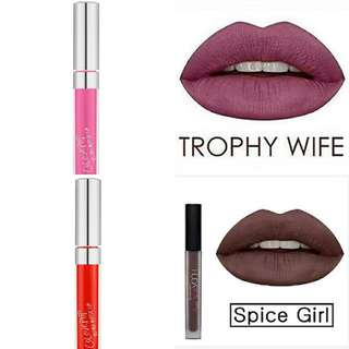 Colourpop Succulent, Buds and Huda Trophy Wife, Spice