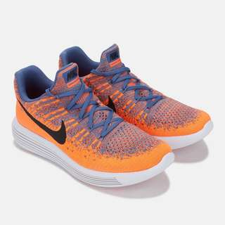 Nike LunarEpic Low Flyknit 2 Paramount Blue Black Max Orange