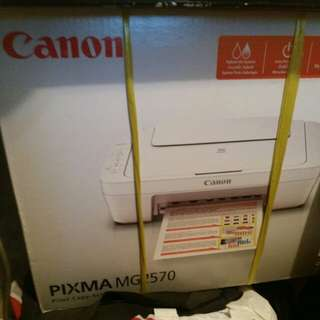 Cannon pixma MG 2570 100%WORK 100%NEW with No ink call: 56690941 to fast trade 7days warranty