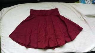 Maroon skirt (26 size )