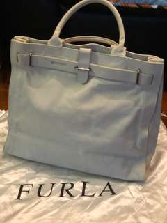 Furla white beige working handbag