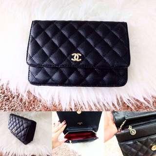 HOT Tas Selempang Chanel Woc Caviar Sling Bag Fashion Wanita Impor