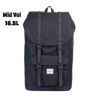 [INSTOCK] HERSCHEL SUPPLY LITTLE AMERICA MID VOLUME BACKPACK (BLACK)
