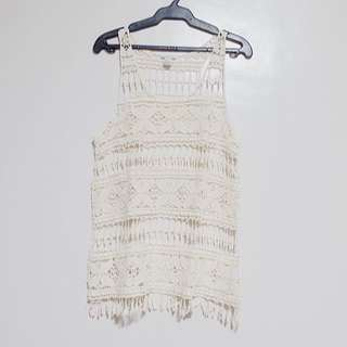 Forever 21 Lace Tank Cover-Up