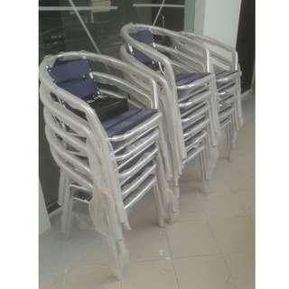 aluminum Chair color blue