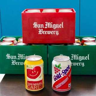 San Miguel Minicrates with 6pcs coinbank cans