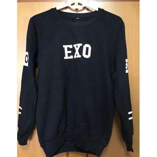 BN EXO BAEK HYUN (No. 4) Long Sleeve Top in Black