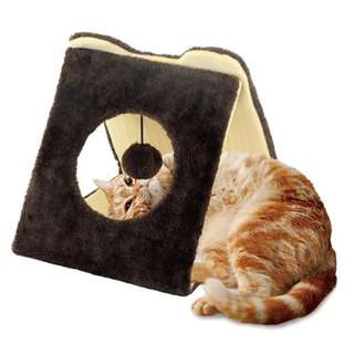 Nyanta Club Triangle Tunnel Cat Scratcher