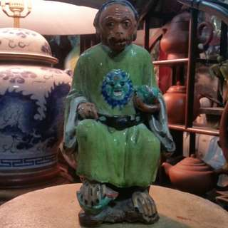 Antique China Ceramic Shi Wan Porcelain Qing Period Monkey King.清朝道光年间(1820~1850)石湾陶瓷齐天大圣。